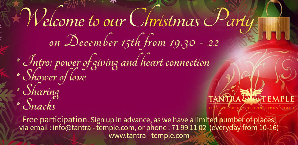 Christmas Party at the Tantra Temple @ Copenhagen | Rødovre | Denmark